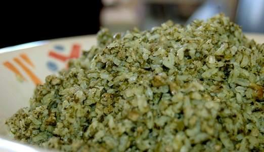 בחש - אורז ירוק בוכרי