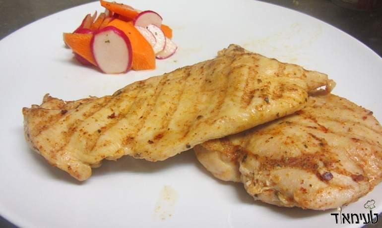 חזה עוף בתבלינים בתנור