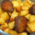 תפוחי אדמה עם פטריות בתנור