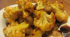 כרובית ופטריות בתנור