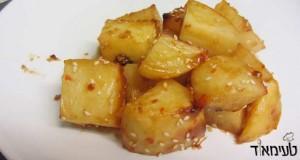 תפוחי אדמה בצ'ילי מתוק וטריאקי בתנור
