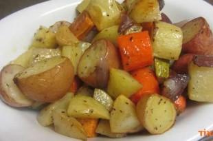 ירקות בתיבול עדין בתנור