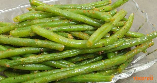 שעועית ירוקה פריכה בתנור